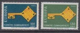 Europa Cept 1968 Turkey 2v Bl Of 4 ** Mnh (44762) - Europa-CEPT