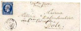Var - Env Sans Corr Affr N° 14A Obl PC 1533 C15 Hyères - Marcophilie (Lettres)