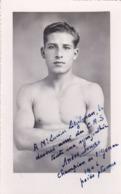 BOXE ,photo De ANDRE SURIER Dédicacée,en 1946 - Sports
