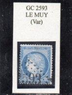 Var - N° 60A Obl GC 2593 Le Muy - 1871-1875 Cérès