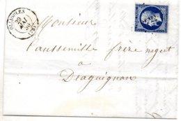 Var - LAC Affr N° 14A (ld) Obl PC 2322 C15 Ollioules - Marcophilie (Lettres)