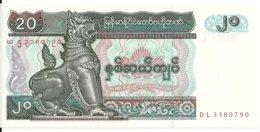 MYANMAR 20 KYATS ND1994 UNC P 72 - Myanmar