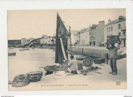56 BELLE ISLE EN MER SAUZON LES QUAIS CPA BON ETAT - Belle Ile En Mer