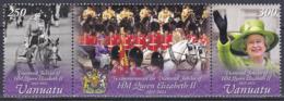 Vanuatu 2012 Geschichte History Persönlichkeiten Herrscher Royals Königin Elisabeth II. Thronbesteigung, Mi. 1476-7 ** - Vanuatu (1980-...)