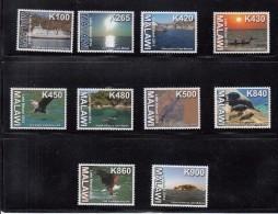2014 Malawi Flora & Fauna Eagle Tourism Kayak Complete Set Of 10 MNH - Malawi (1964-...)