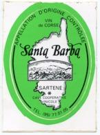 AUTOCOLLANT VIN DE CORSE SANTA BARBA SARTENE - Stickers