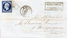 Var - LAC (fabrique De Bouchons) Affr N° 14A Obl PC 3296 C15 St-Tropez - Marcophilie (Lettres)