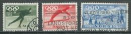 Norvège YT N°337/339 Jeux Olympiques D'hiver Oslo 1952 Oblitéré ° - Used Stamps