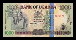 Uganda 1000 Shillings 2009 Pick 43Dr Replacement SC UNC - Oeganda