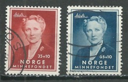 Norvège YT N°369/370 Princesse Martha Oblitéré ° - Norvège