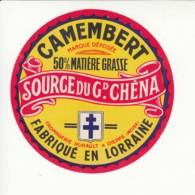 Etiquette De Fromage Camembert - Source Du Grand Chéna - Hurault - Dieppe - Meuse. - Fromage