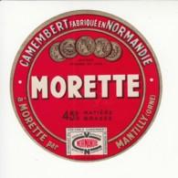 Etiquette De Fromage Camembert - Morette - Mantilly - Orne. - Fromage