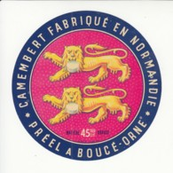 Etiquette De Fromage Camembert - Préel - Boucé - Orne. - Fromage