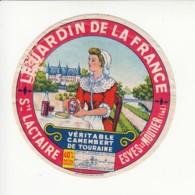 Etiquette De Fromage Camembert - Jardin De La France - Esves Le Moutier - Indre Et Loire. - Fromage
