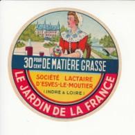 Etiquette De Fromage - Jardin De La France - Esves Le Moutier - Indre Et Loire. - Fromage