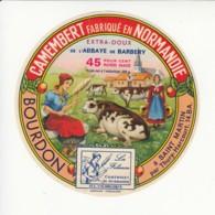 Etiquette De Fromage Camembert - Bourdon - Saint Martin - Calvados. - Fromage