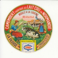 Etiquette De Fromage Camembert - La Fileuse - Mittois - St Pierre Sur Dives - Calvados. - Fromage