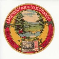 Etiquette De Fromage Camembert - Ligué Frères - Macé Par Sées - Orne. - Fromage