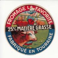 Etiquette De Fromage La Favorite. - Fromage