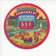 Etiquette De Fromage Camembert - Loches - Indre Et Loire. - Fromage