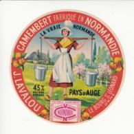 Etiquette De Fromage Camembert - Lavalou - Le Bourg St Léonard - Orne. - Fromage
