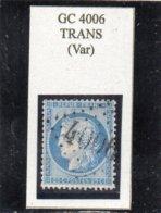 Var - N° 60A Obl GC 4006 Trans - 1853-1860 Napoléon III