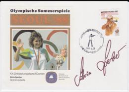 Autograph Cover: Corea 1988 Seoul Olympic Games - Silvia Sperber (G102-48) - Sommer 1988: Seoul