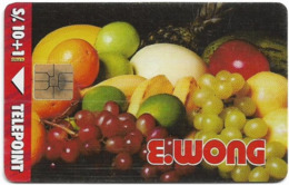 Peru - Telepoint - E.Wong Fruits, 10+1Sol, 20.000ex, Used - Perú