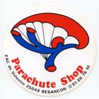 AUTOCOLLANT PARACHUTE SHOP 25048 BESANCON - Autocollants