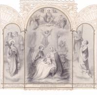 IMAGE PIEUSE à Système Pliable Qui Tient Debout Et S'ouvre Comme Une Fenêtre -CANIVET - JESUS Est Né - - Images Religieuses