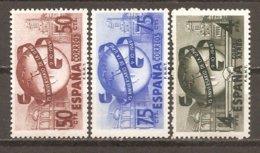 España/Spain-(MH/*) - Edifil  1063-65 - Yvert 795-96,  Aéreo-240 - 1931-50 Neufs