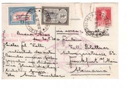 Zeppelin 1er Vol 1930 Vuelo Argentina Aeropostal Luftpoft Frankfurt Allemagne Argentine Timbre N° 19B Et 19D - Zeppelins