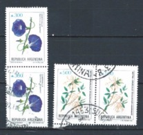 ARGENTINA 1989 (O) USADOS MI-1982+1983 YT-1688+1689 BL.2 FLORES - Argentinien