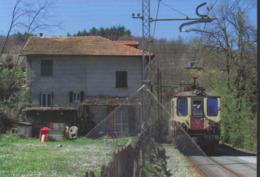 329 FGC A8 Firella Cittadella Località Caselle Paese Genova Railroad Tunel Trein Railways Treni - Stazioni Con Treni