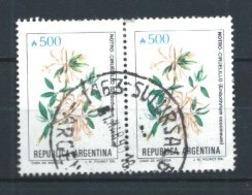 ARGENTINA 1989 (O) USADOS MI-1983 YT-1689  BL.2 FLORES - Argentinien