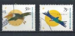 ARGENTINA 1995 (O) USADOS MI-2248+2254 YT-1880+1881 AVES - Argentinien