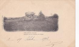 Cpa FELLETIN DOLMEN DE LA CABANE DE CESAR 1902 - Felletin