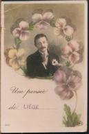 °°° 14607 - BELGIUM - UNE PENSEE DE LIEGE - 1911 With Stamps °°° - Liège