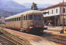 328 ALn 990.3018 OM Fiat Stazione Aulla Massa  Railroad Trein Railways Treni - Stazioni Con Treni