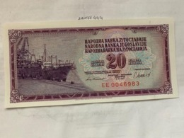 Yugoslavia  20 Dinara  Unc.  Banknote 1981 - Jugoslawien