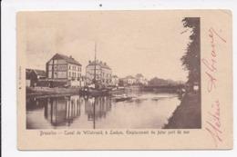 CP BELGIQUE BRUXELLES Canal De Willebroeck à Laeken Emplacement Du Futur Port De Mer - Autres