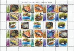 NETHERLANDS ANTILLES 2004 Ducks Fish Fishes Birds Animals Fauna MNH - Eenden