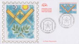 Enveloppe  FDC  1er  Jour   FRANCE    La   FRANC - MACONNERIE   LYON   2003 - Freemasonry
