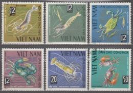 Vietnam 1965 Mi# 387-392 Sea Animals Crabs And Lobsters  Used - Vietnam