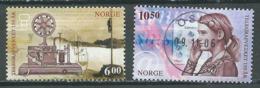Norvège YT N°1493/1494 Service Télégraphique Oblitéré ° - Norvège