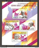 TOGO - 2014 Canonizzazione Di Papa GIOVANNI XXIII E GIOVANNI PAOLO II Con Papa FRANCESCO Nuovo** Papa Pope Papst Pape - Papas