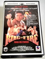 """Video VHS - Ring Of Fire, Don """"Dragón"""" Wilson, Vince Murdocco, Eric Lee, Stan """"The Man"""" Longinidis - 1991 - Action, Aventure"""