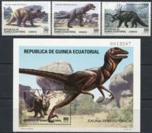 EQUATORIAL GUINEA 1994 Prehistoric Animals Dinosaurs Fauna MNH - Preistorici