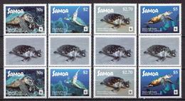 Samoa MNH Set In Gutter Pairs - W.W.F.