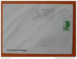 Flamme Postmark Expo Mineralogie Albi Tarn - Minéraux
